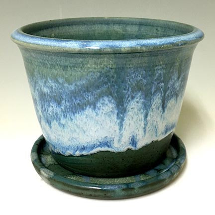 Regular Joe  Planter - IvyGreen/Rutile Glazes