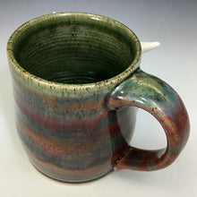 Load image into Gallery viewer, Medium FaceMug - Righty - Raspberry Glaze - Toof/WHorns