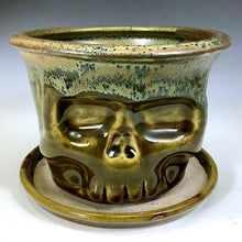Load image into Gallery viewer, Skull Planter - Amber Green