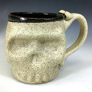 Skull Mug - Matt Surface/Black Glaze