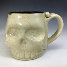 Load image into Gallery viewer, Skull Mug - Craze'd Clear Glaze/Black Interior