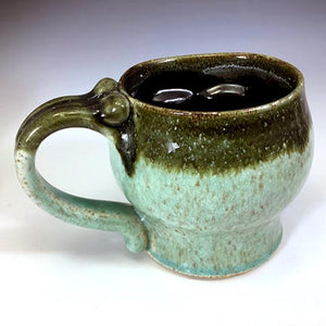 Skull Mug - Blue Celadon/Black Interior
