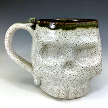 Load image into Gallery viewer, Skull Mug - All Bone Speckled White/Black Interior