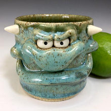 Load image into Gallery viewer, Monster Shot - Naughty Nigel - Seafoam Glaze/WHorns