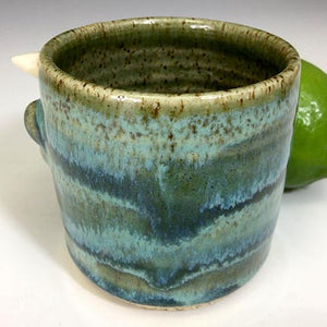Monster Shot - Naughty Nigel - Seafoam Glaze/WHorns