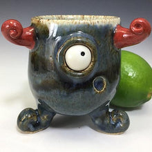 Load image into Gallery viewer, Squiddy Shot - Pelota Pete - Twilight Blue Glaze/RHorns