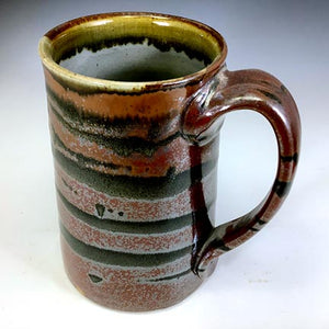 Tall Stoic Mug - Righty - Scarlet Red Glaze