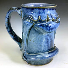 Load image into Gallery viewer, Tall Stoic Mug - Righty - Denim Blue Glaze - Clear Glaze Int.