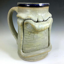 Load image into Gallery viewer, XL Stoic Mug - Righty - Slip Crackle - Clear Glaze Int.