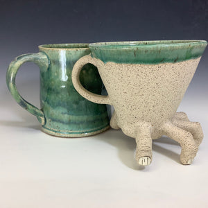 The Decantinator! - Coffee Pour Over w/ matching Mug - Celadon/Blue
