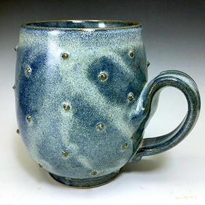 Cat's Regular Joe Mug - Round - Denim Blue Glaze - Pointy Bits