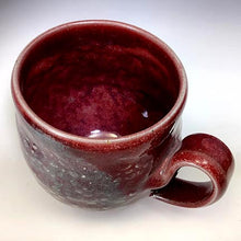 Load image into Gallery viewer, Cat's Regular Joe Mug - Round - Copper Red Glaze - Stamp Texture