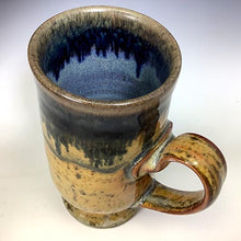 Load image into Gallery viewer, Cat's Regular Joe Mug - Tall Socle - Sooty Shino Glaze