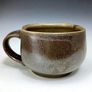 Cat's Regular Joe - Bowls with Handles - 70's Brown Glaze w/ Drip