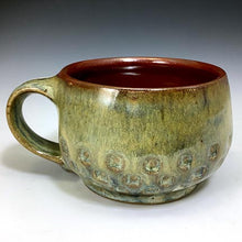 Load image into Gallery viewer, Cat's Regular Joe - Bowls with Handles - Scarlet/Rutile Glaze - Stamped