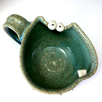 Ooglie Eye Cup - Lefty - Seafoam Glaze - OneToof - HappyEyes - POINTY BITS