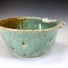 Load image into Gallery viewer, Ooglie Eye Bowl Small - Celadon Glaze - Ears - StarStamp
