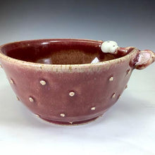 Load image into Gallery viewer, Ooglie Eye Bowl Small - Raspberry Glaze - Ears - Pointy Bits