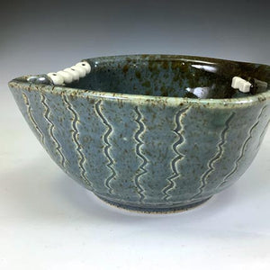 Ooglie Eye Bowl Small - Twilight Blue Glaze - Teefers - FiveEyes!