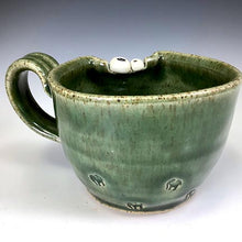 Load image into Gallery viewer, Demi Ooglie Eye Mug - LEFTY - Hodge Glaze - WonkyLeft - Elephant Stamp