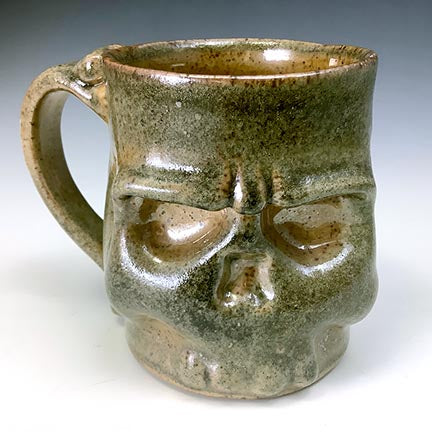 Skull Mug - Simple Shino Glaze