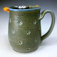 Load image into Gallery viewer, Ooglie Eye Mug - Righty - Eggshell Matt Glaze - OHorns -  Star Stamps