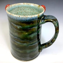Load image into Gallery viewer, XL FaceMug - Righty - Twilight Blue Glaze - RedHorns - LookieRt