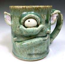 Load image into Gallery viewer, Med FaceMug-Lefty-Celadon Glaze-OneEyeTroll