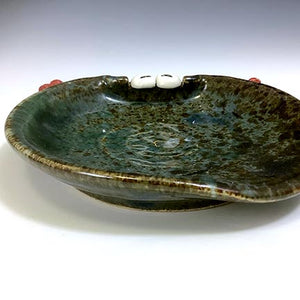 Ooglie Eye Spoon Rest - Twilight Blue Glaze - RedHorns - HappyEyes