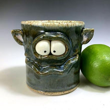 Load image into Gallery viewer, Monster Shot - Twilight Blue Glaze - Ears - Burpy