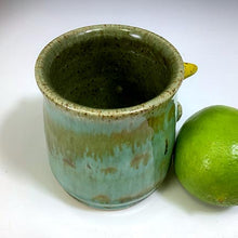 Load image into Gallery viewer, Monster Shot - Celadon Glaze - YellowHorns - Three Eyes...