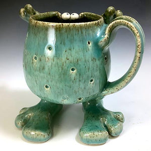 Walker Mug - Righty - Celadon Glaze - Pox