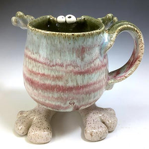 Walker Mug - Righty - Pinkiedoo Glaze - Wonky