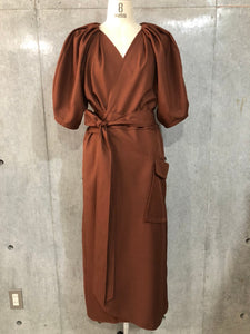 LONG DRESS WRAP COAT