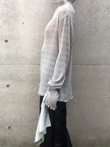 HIGH NECK TOPS&SCARF