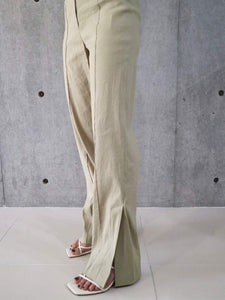 SIDE SLIT PANTS