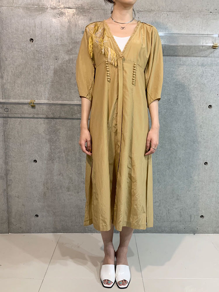 ENBROYDARY SILK COTTON DRESS