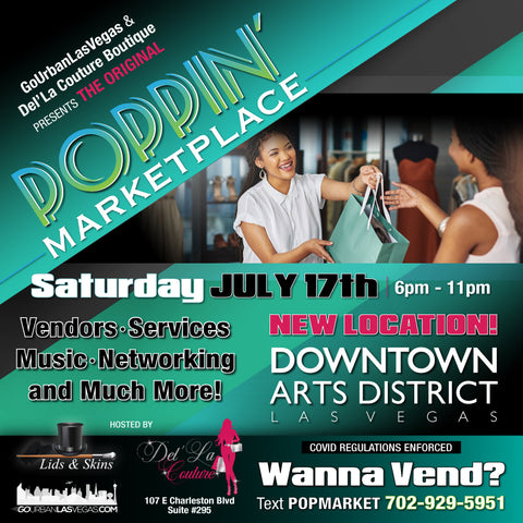 Poppin Marketplace in the Las Vegas Arts District on July, 17th