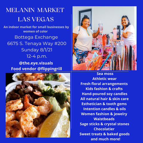 Shop with Sunsum at the next Melanin Market LV on August 1st