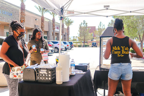Beef patties and more at the Melanin Market LV
