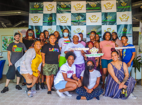 Photo op with other melanated brands at the Melanin Market LV
