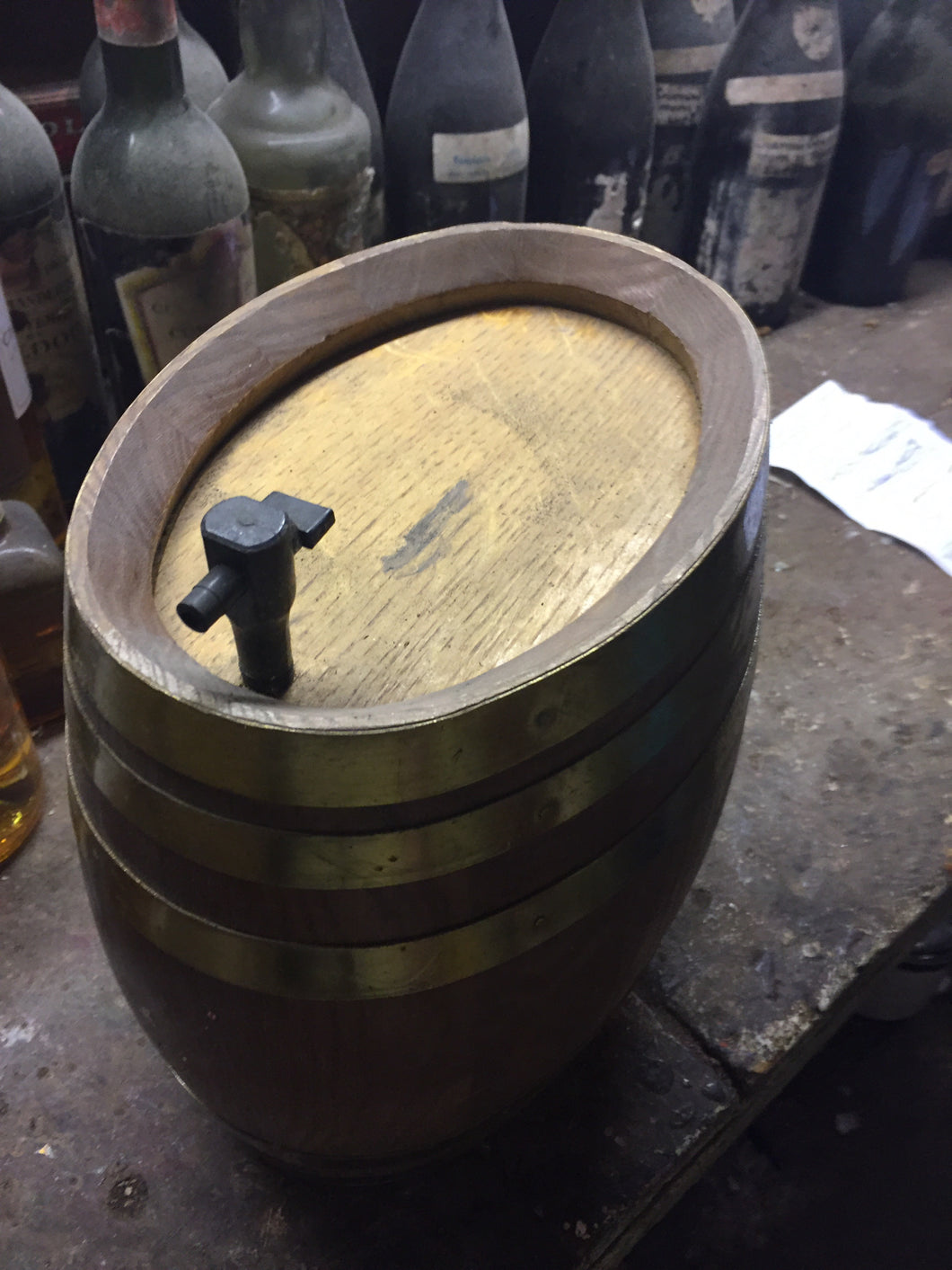 1980's Small Oak Barrel - Benson Fine Wines