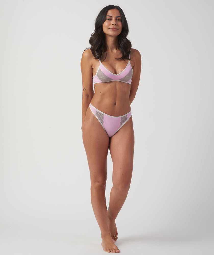 Iced Lilac Triangle Bra