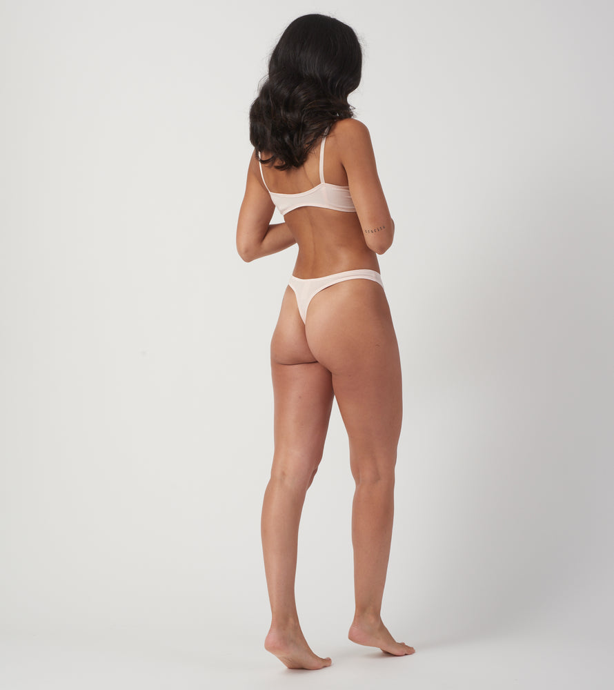 Rose Quartz Thong