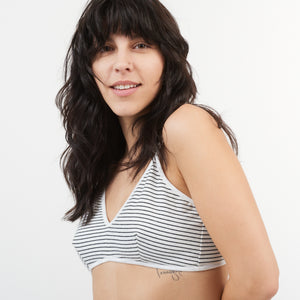 Stripe Triangle Bra
