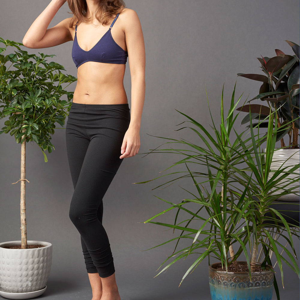 Black Organic Cotton Legging