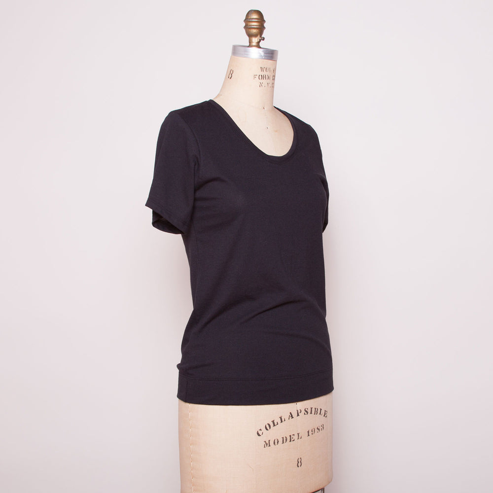 Black Organic Cotton Tee