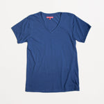 Indigo Organic Cotton V-Neck Tee