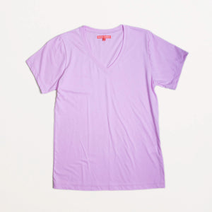 Pink Lavender Organic Cotton V-Neck Tee