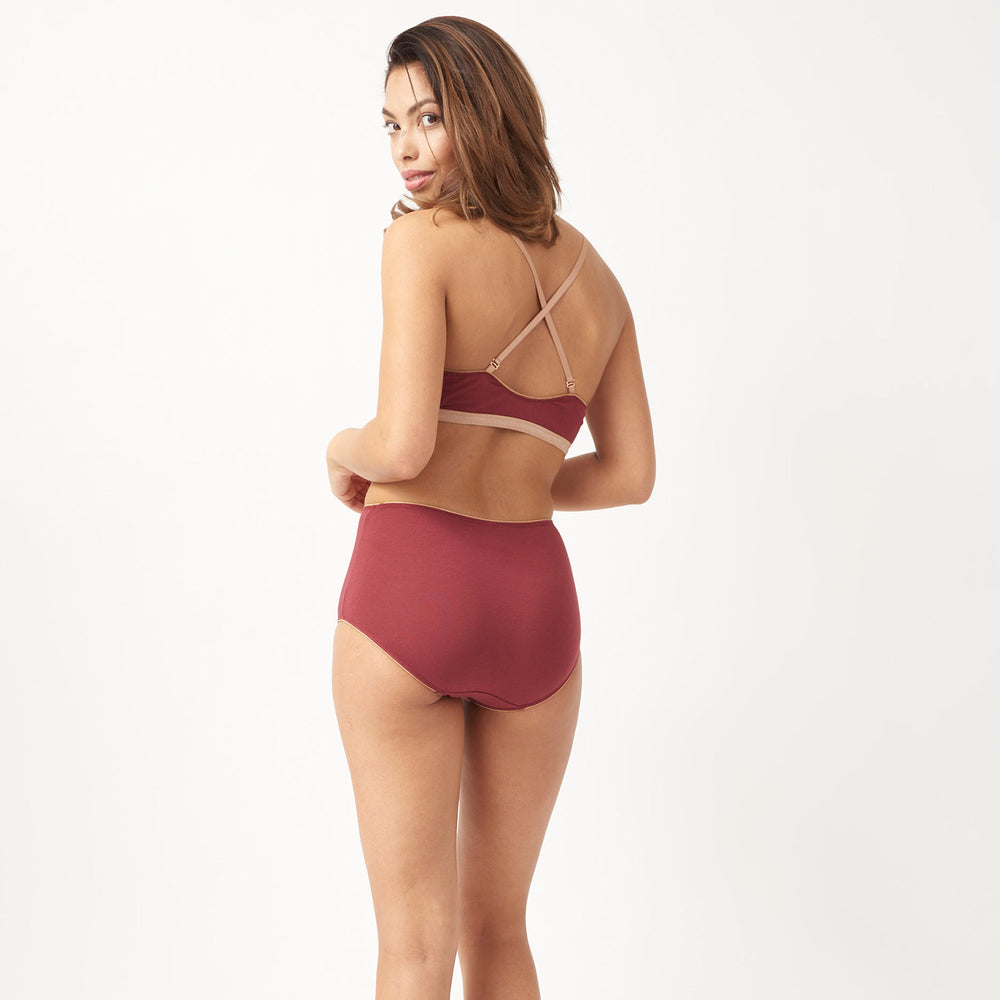 Burgundy High Brief